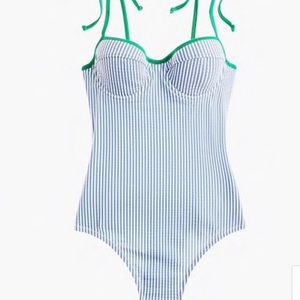 NWT J. Crew Seersucker Swimsuit Size 6